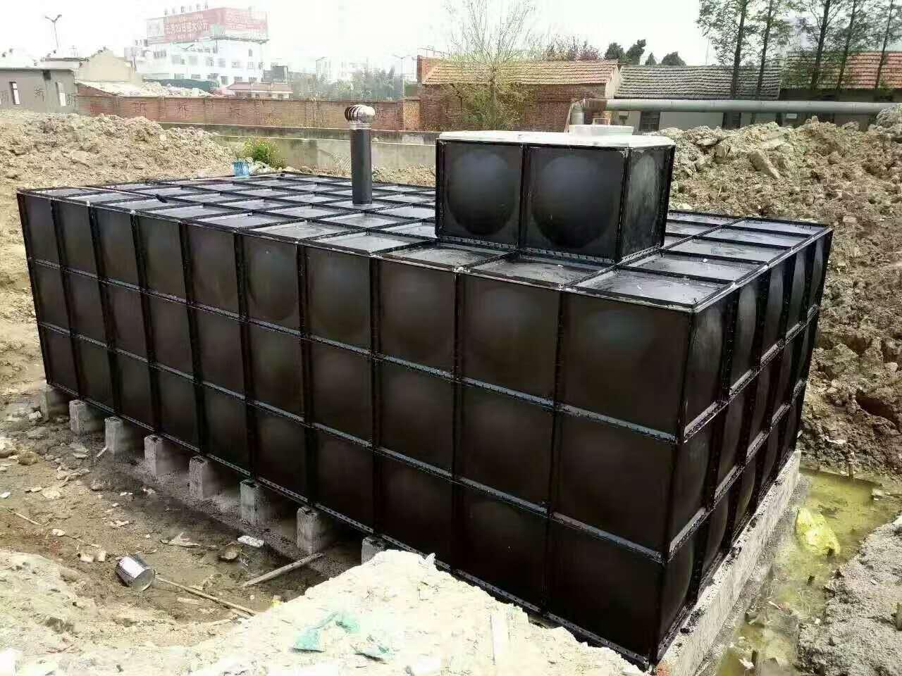 天等180方地埋式箱泵一体化球吧网直播手机项目安装完成
