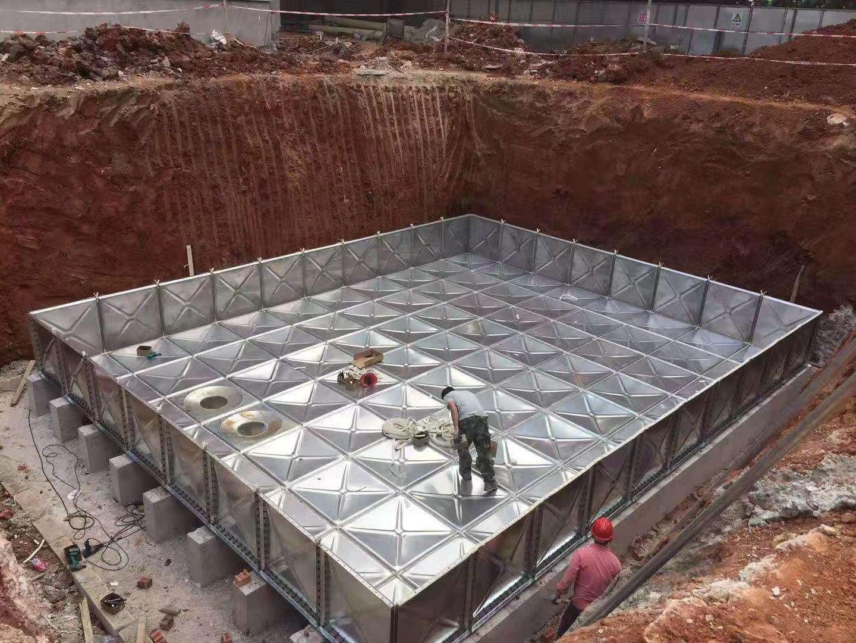 南宁地埋式消防箱泵一体化球吧网直播手机之金陵初级中学项目安装完成