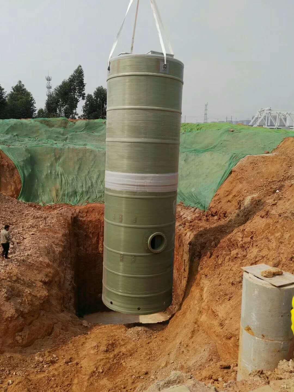 南宁龙岗一体化预制泵站设备吊装
